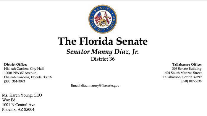 Florida Senator Manny Diaz Jr.