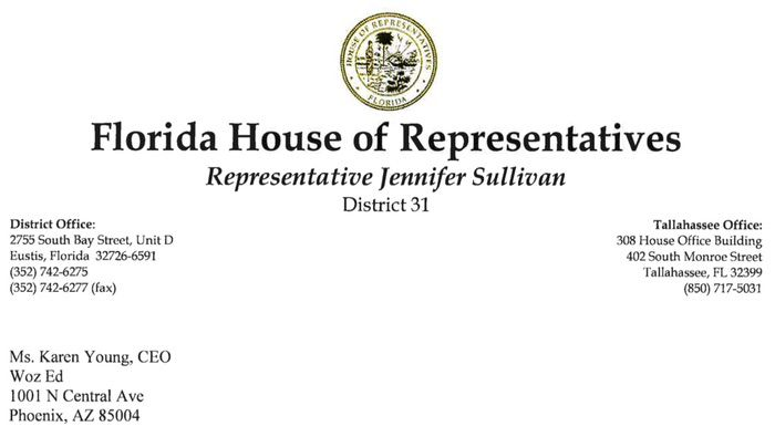 Florida Representative Jennifer Sullivan